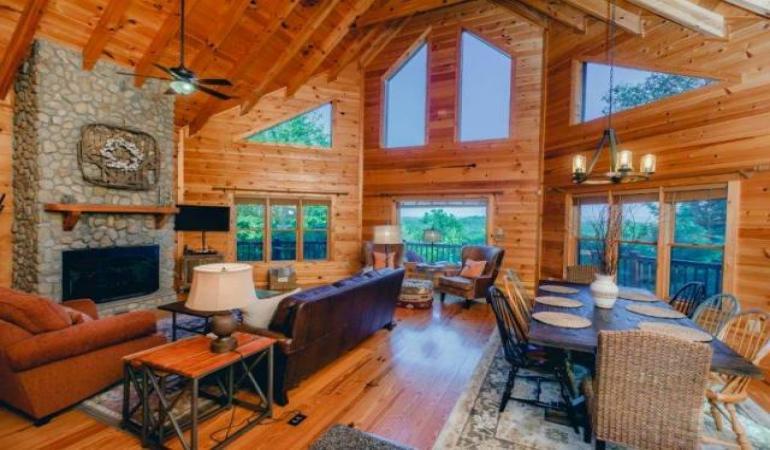 Misty Mountain Sunrise, A Blue Ridge GA Rental Cabin